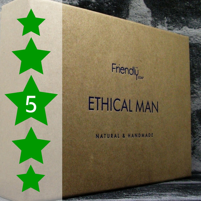 Friendly Soaps Ethical Man Handmade Soap Gift Set Receives A 5 Star Review - Adam & Eco
