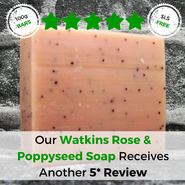 Watkins Rose & Poppyseed Soap Bar Receives Another 5 Star Review - Adam & Eco