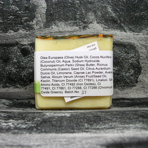 Back Of Autumnal Peacock Soap Bar By Barmby On The Marsh Artisan Soaps | Adam & Eco
