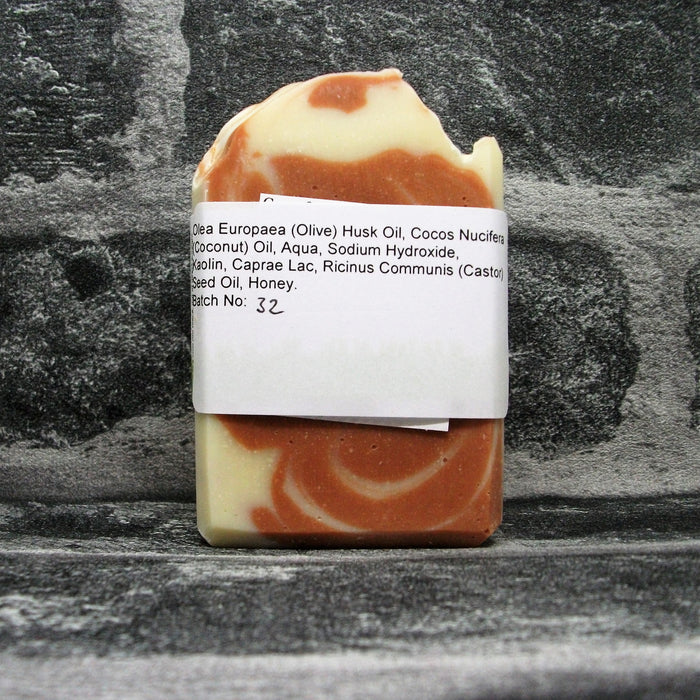 Back Of French Rose Clay & Goats Yoghurt Soap Bar | Adam & Eco