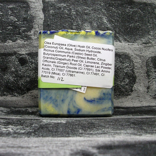 Back Of Grapefruit & Ginger Soap Bar By Barmby On The Marsh Artisan Soaps | Adam & Eco
