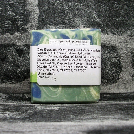 Back Of Tea Tree & Eucalyptus Soap Bar By Barmby On The Marsh Artisan Soaps | Adam & Eco