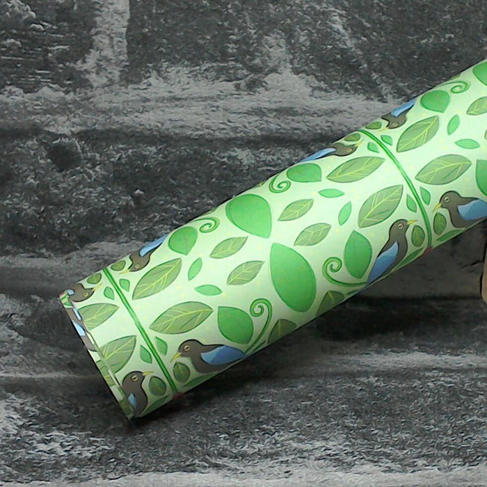 Brids Of Paradise Luxury Recycled Wrapping Paper