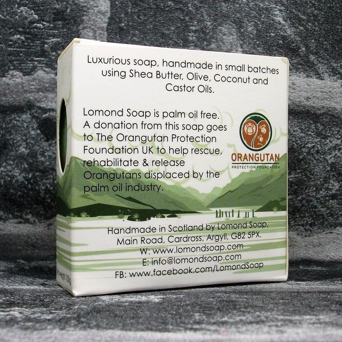 Bramble & Apple Soap Bar By Lomond Soap - Back - Adam & Eco