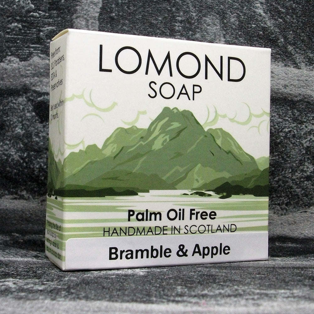 Bramble & Apple Soap Bar By Lomond Soap - Front - Adam & Eco