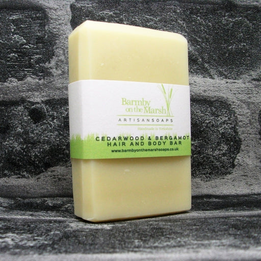 Cedarwood & Bergamot Hair & Body Shampoo Soap Bar By Barmby On The Marsh Artisan Soaps | Adam & Eco