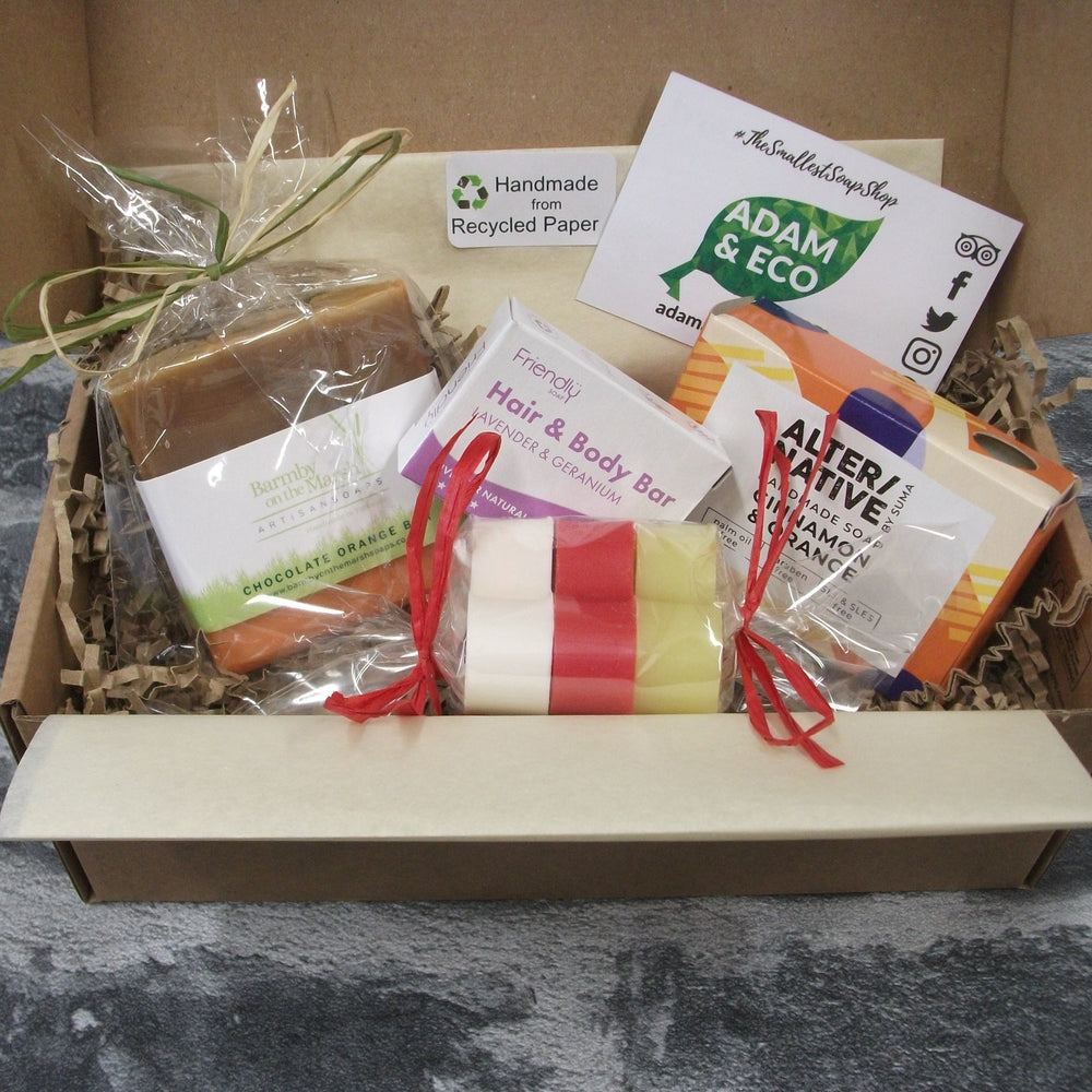 Christmas Natural Soap Gift Set With 6 Soap Bars