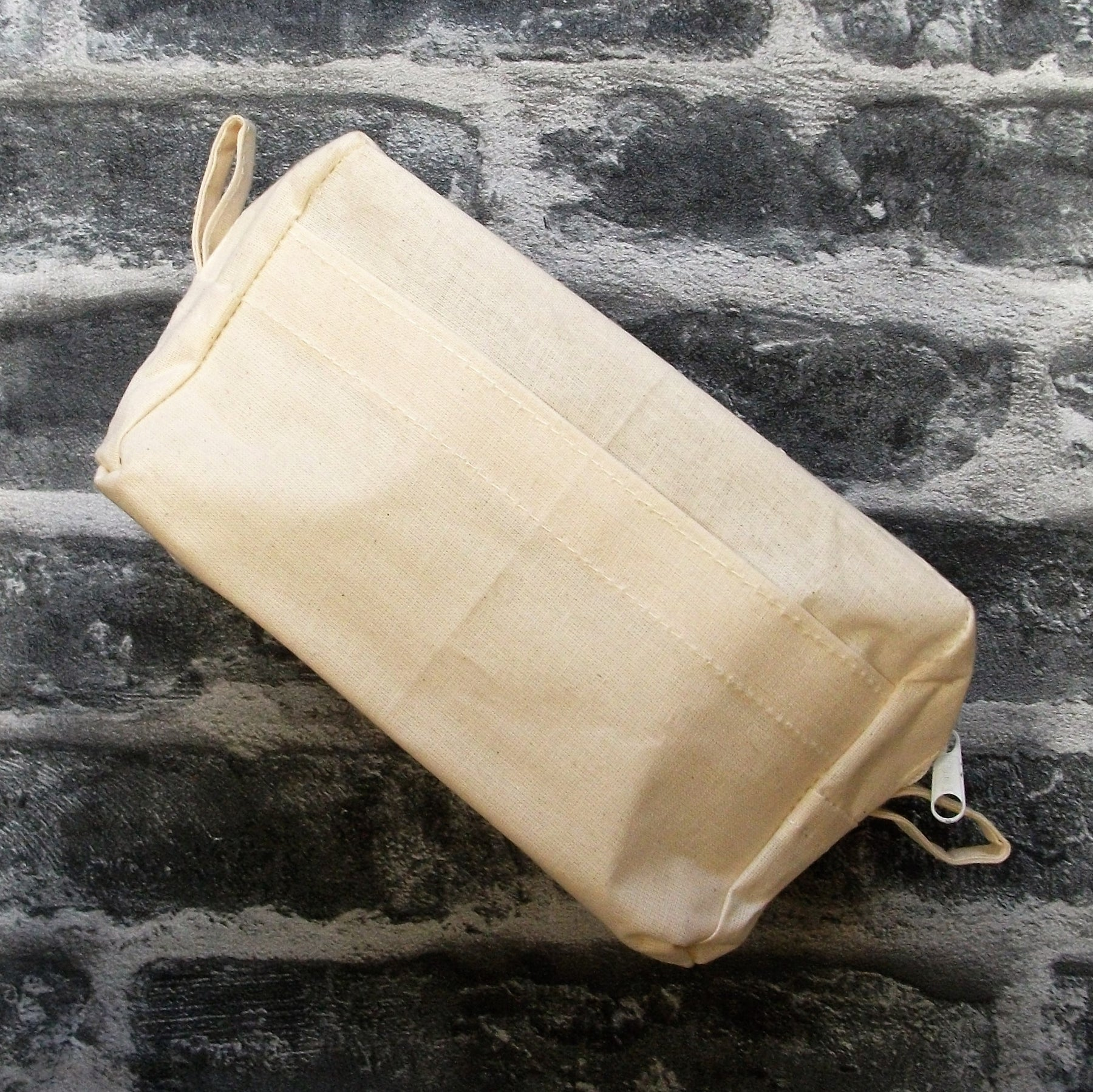 Cotton Toiletry Wash Bag Side View