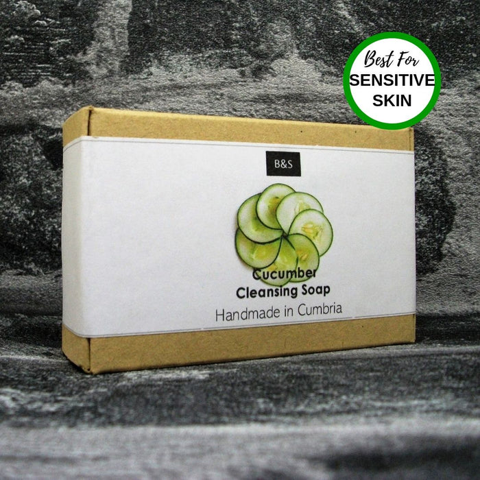 Cucumber Cleansing Soap Bar For Sensitive Skin