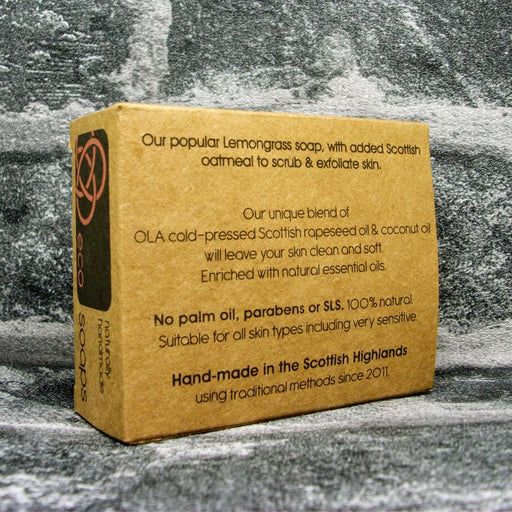 Eco Soaps Lemongrass & Oatmeal Soap Bar Reverse