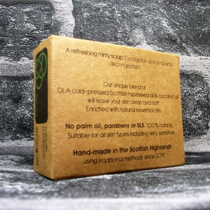 Eco Soap Eucalyptus & Peppermint Soap Bar Reverse - Adam & Eco