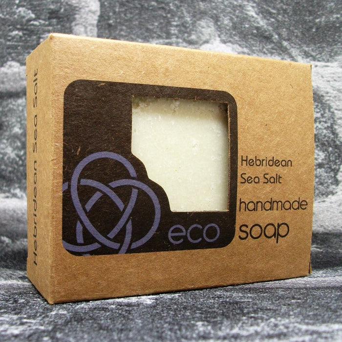 Hebridean Sea Salt & Activated Charcoal Freshly Handmade Natural Eco Soap - Adam & Eco
