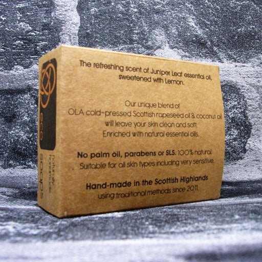 Eco Soaps Juniper & Lemon Soap Bar Reverse - Adam & Eco