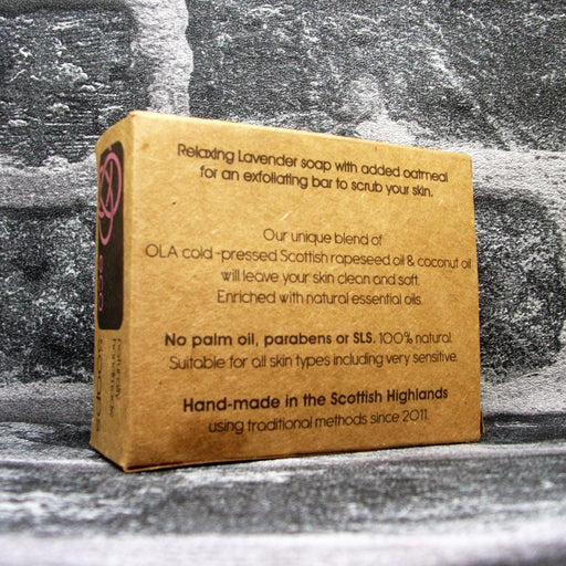 Eco Soap Lavender & Oatmeal Soap Bar Reverse - Adam & Eco