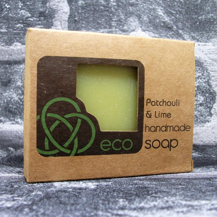 Eco Soaps Patchouli, Lime & Activated Charcoal Freshly Handmade Natural Soap Bar - Adam & Eco