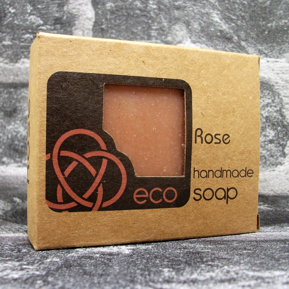 Eco Soaps Freshly Handmade & Natural Rose Soap Bar - Adam & Eco