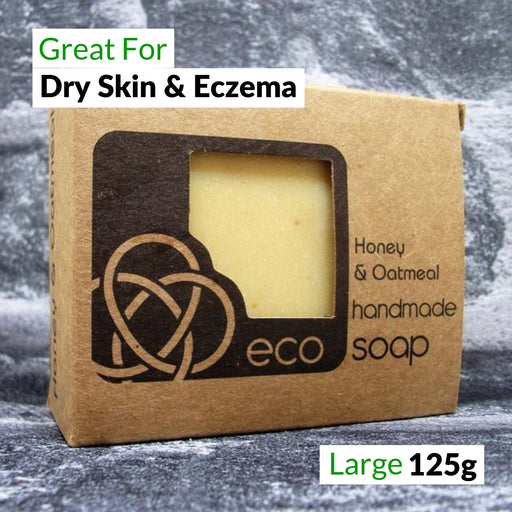 Eco Soaps Honey & Oatmeal Soap Bar For Dry Skin & Eczema | Adam & Eco