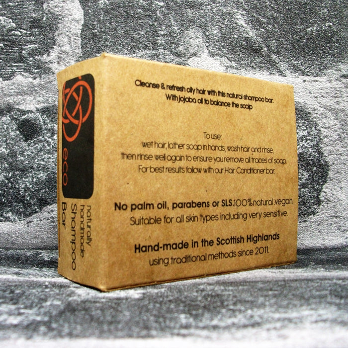 Eco Soaps' Lemon & Lime Shampoo Bar For Oily Hair Types Reverse