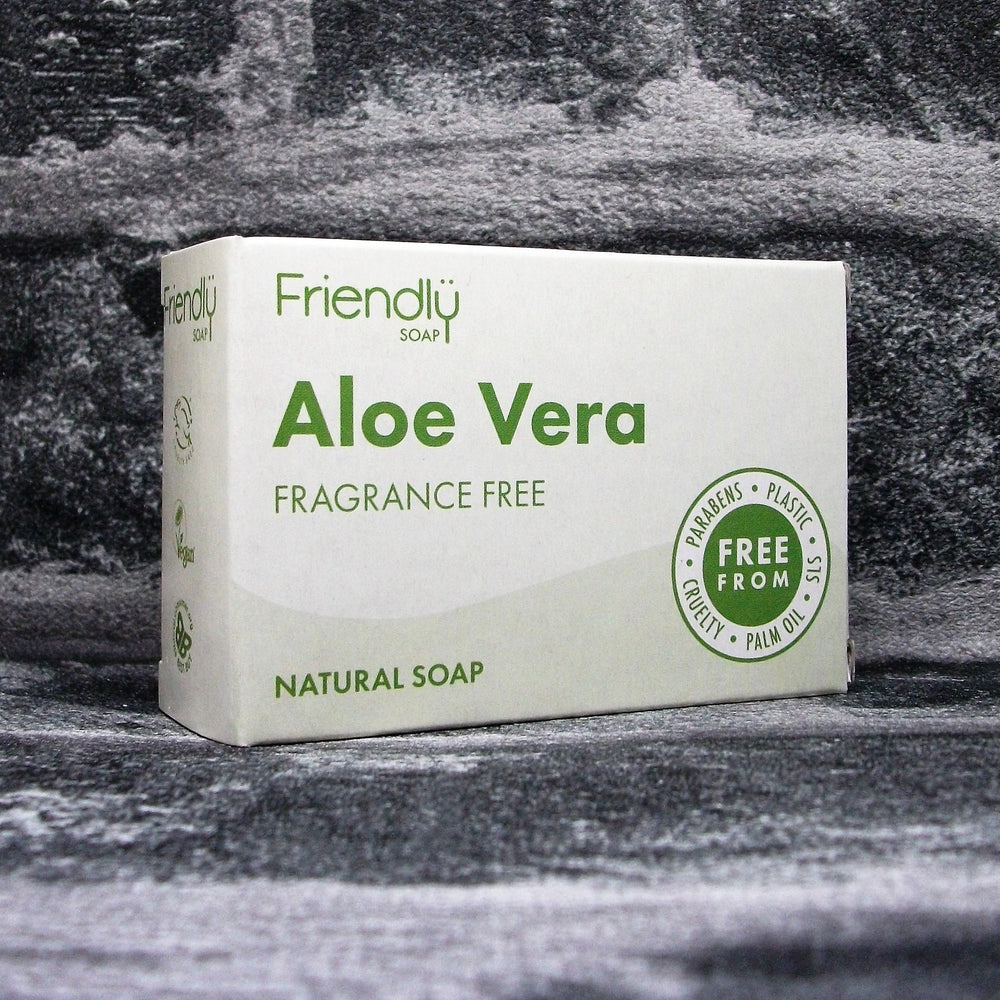 Friendly Soap Aloe Vera Fragrance Free Soap Bar