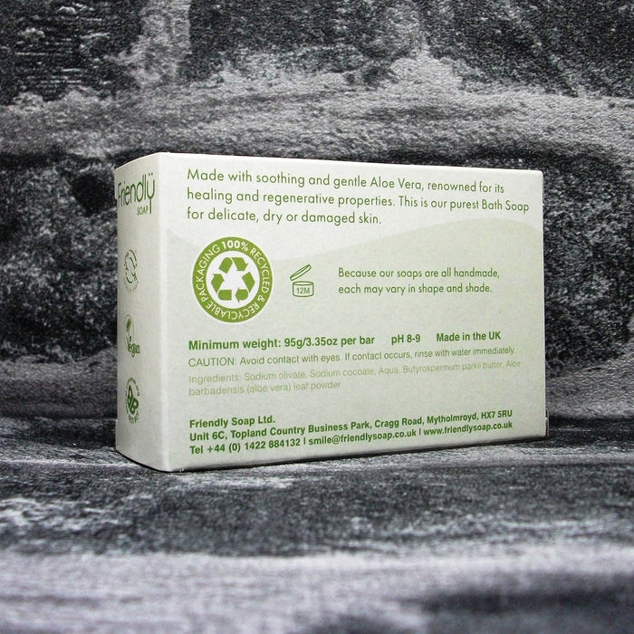 Friendly Soap Aloe Vera Fragrance Free Soap Bar Reverse