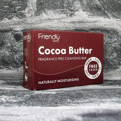 Friendly Soap Cocoa Butter Fragrance Free Cleansing Soap Bar