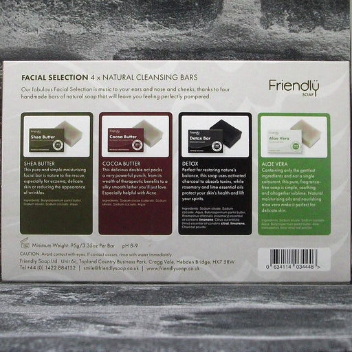 Friendly Soap Facial Collection Handmade Soap Bar Gift Set Reverse