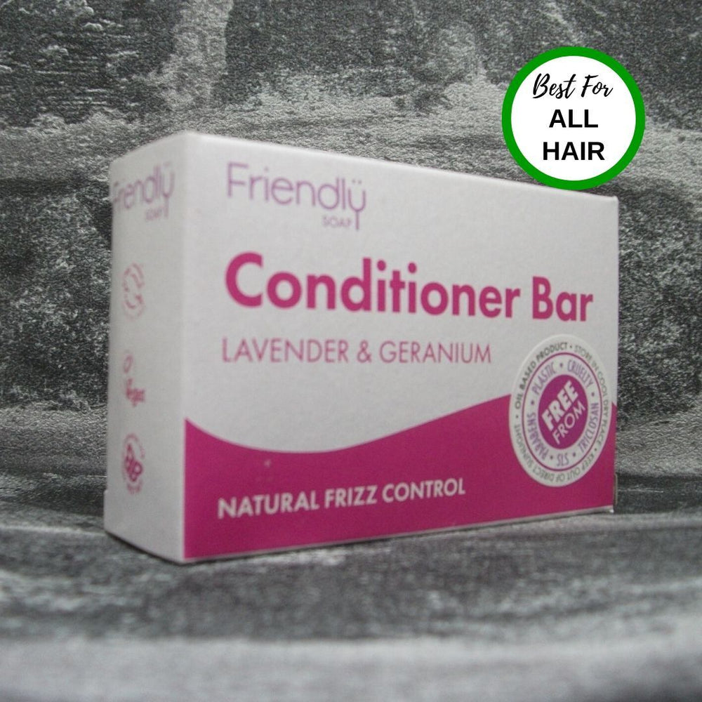 Friendly Soap Lavender & Geranium Solid Conditioner Bar For All Hair Types
