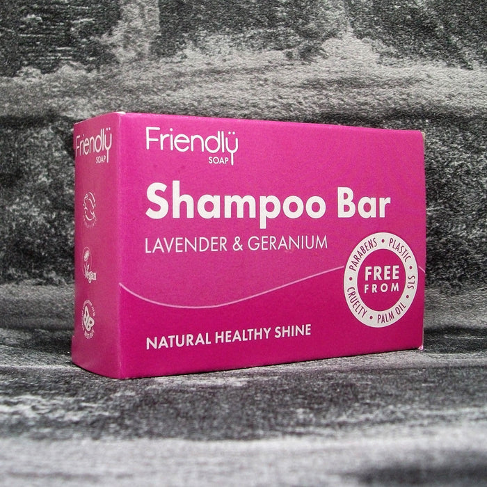 Friendly Soaps' Lavender & Geranium Shampoo Bar For All Hair Types