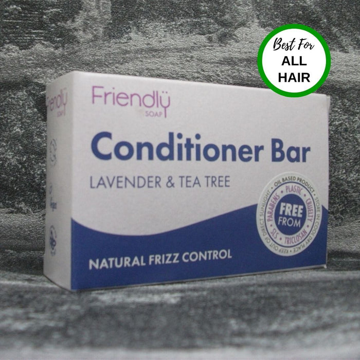 Friendly Soap Lavender & Tea Tree Solid Conditioner Bar For All Hair Types