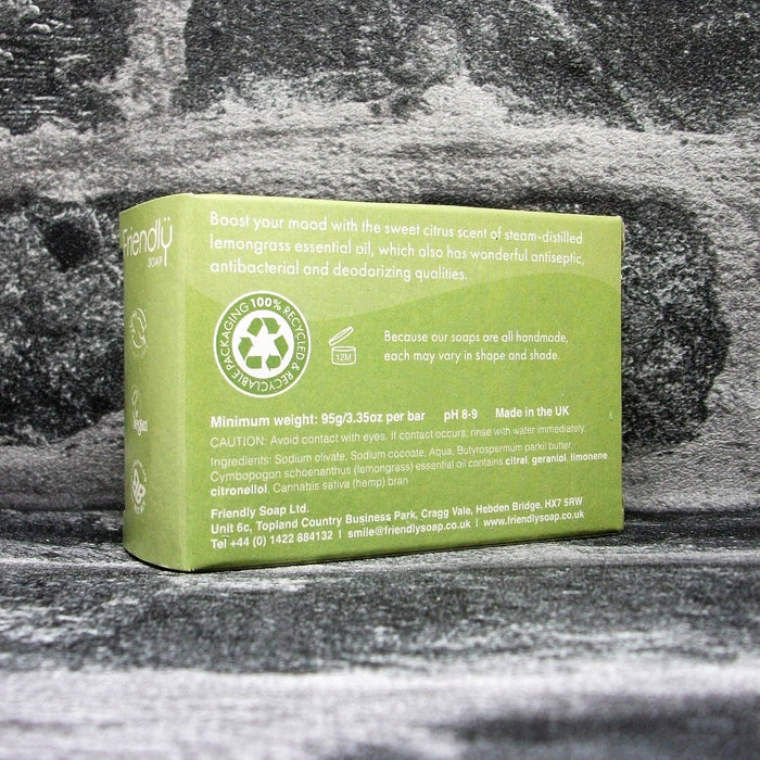 Friendly Soaps' Lemongrass & Hemp Soap Bar