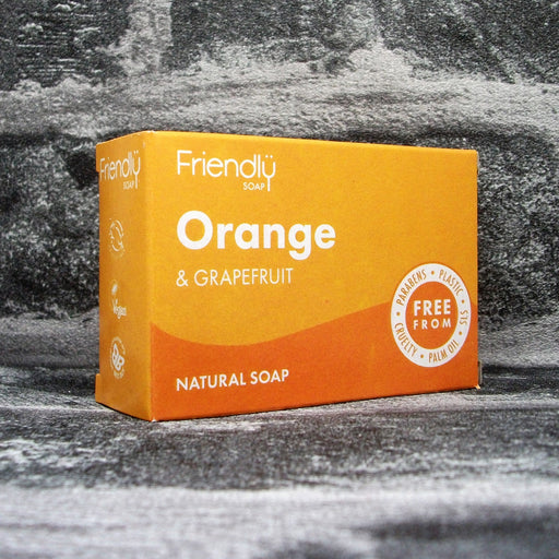 Friendly Soaps Orange & Grapefruit Soap Bar