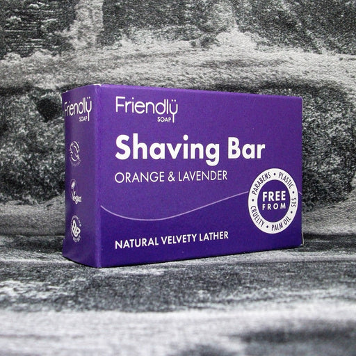 Friendly Soap Orange & Lavender Shaving Soap Bar