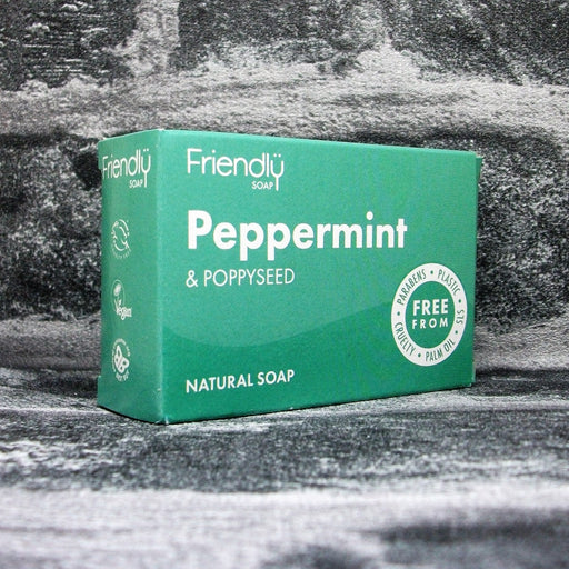 Friendly Soaps' Peppermint & Poppyseed Soap Bar