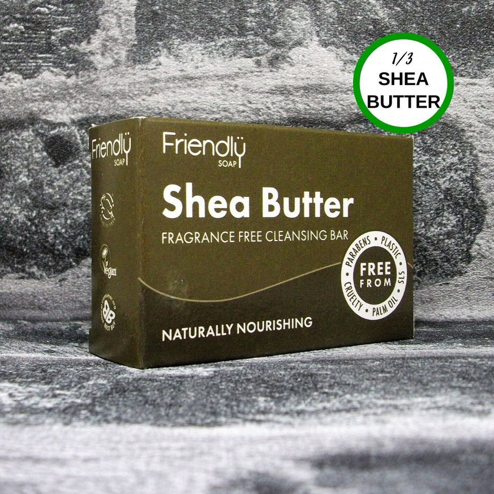 Friendly Soap Shea Butter Face & Body Cleansing Soap Bar