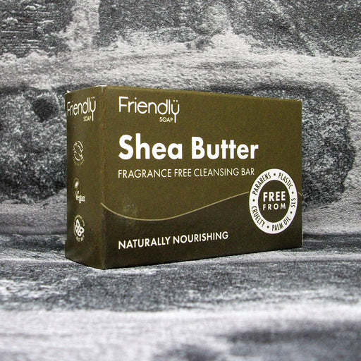 Friendly Soap Shea Butter Fragrance Free Cleansing Soap Bar