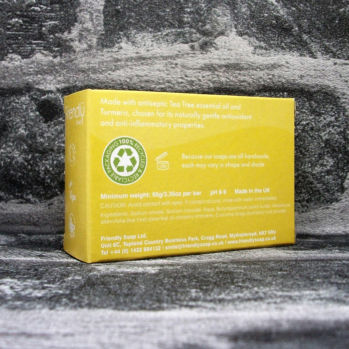 Friendly Soaps' Tea Tree & Turmeric Soap Bar Reverse