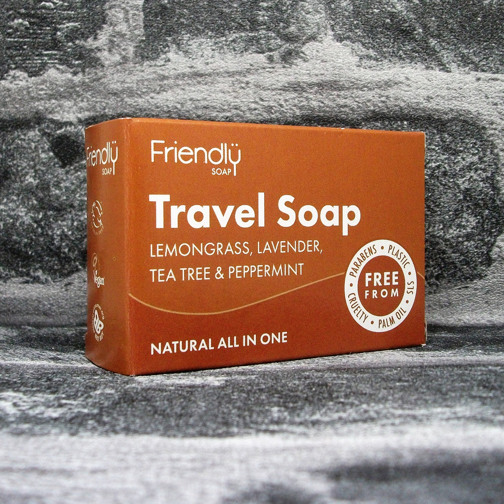Friendly Soaps' All In One Travel Soap Bar For Hair Body & Laundry