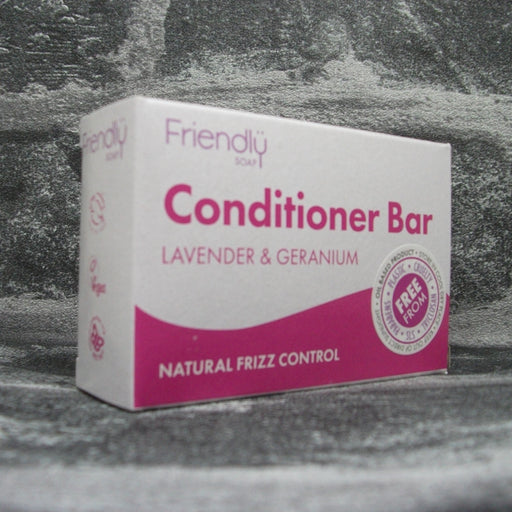 Friendly Soap Lavender & Geranium Conditioner Bar For All Hair Types
