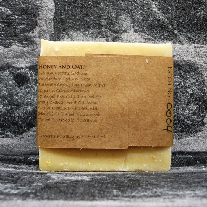 Honey & Oats Goats Milk Soap Bar Reverse By The Spinney Goat Company