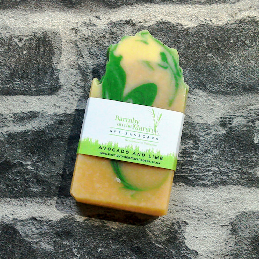 Avocado & Lime Soap Bar By Barmby On The Marsh Artisan Soaps | Adam & Eco