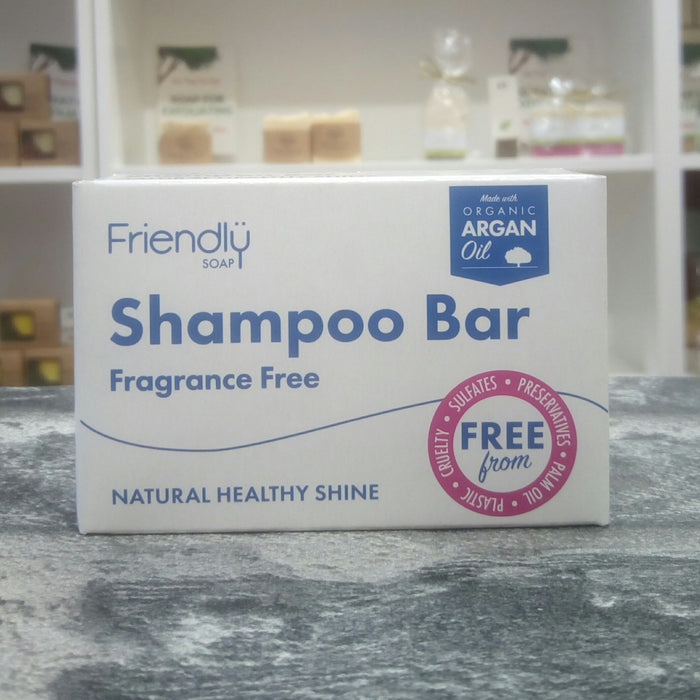 Friendly Soaps' Fragrance Free Shampoo Bar For Sensitive Hair Types