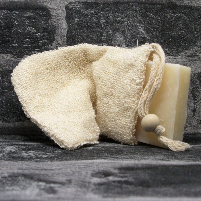 Ramie Drawstring Soap Bag