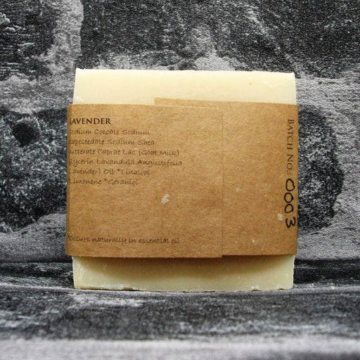Lavender Goats Milk Soap Bar Reverse By The Spinney Goat Company