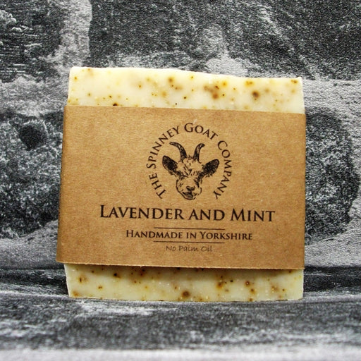 Lavender & Mint Goats Milk Soap Bar By The Spinney Goat Company