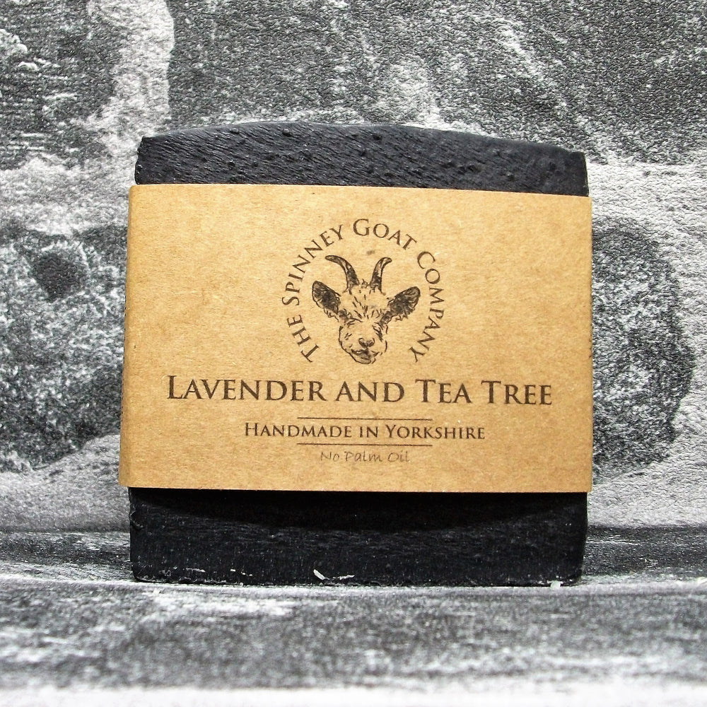Lavender & Tea Tree Goats Milk Soap Bar By The Spinney Goat Company