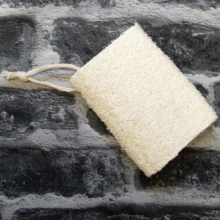 Hanging Loofah Sponge On A Rope