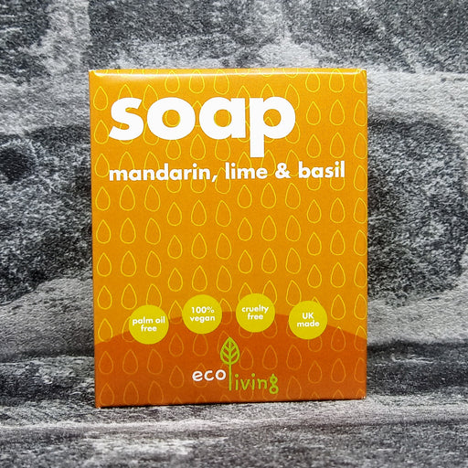 Mandarin With Lime & Basil Natural Handmade Soap Bar By Eco Living