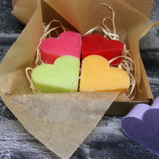 Mixed Fragranced Heart Shaped Mini Guest Soap Gift Box - Adam & Eco