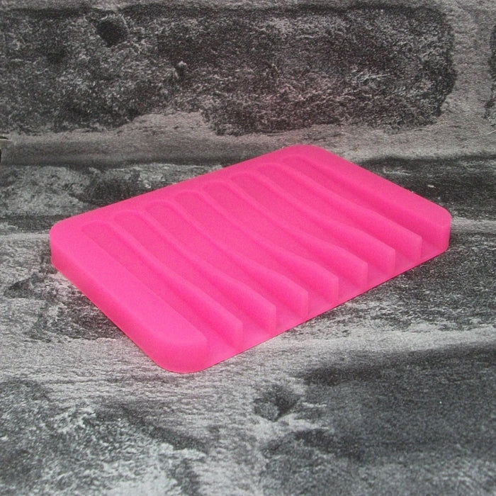 Neon Pink Silicone Soap Dish