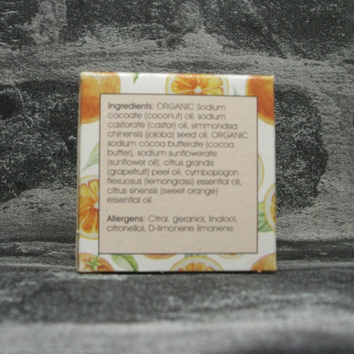 Fizzy Orange Natural Handmade Shampoo Bar For All Hair Types Ingredients